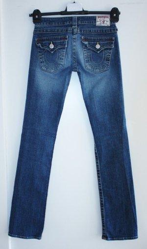 True Religion Low Rise Jeans blue cotton