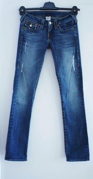 True Religion Jeans Billy W27 L32 Seat neuwertig Destroyed Jeans