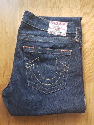 True Religion Jeans a gamba dritta blu scuro Cotone