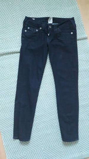 True Religion Jeans Crop Ankle Knöchel Skinny Slim Fit Röhre