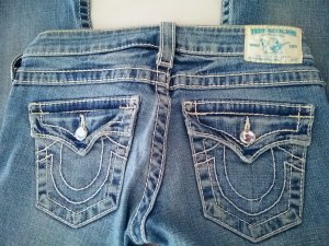TRUE RELIGION JEANS DISCO BILLY, Swarowski-Steine ,Stretch Gr.25,