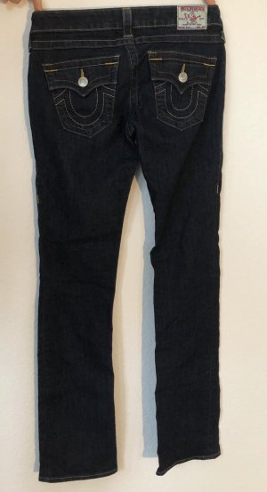 True Religion Low-Rise Trousers dark blue