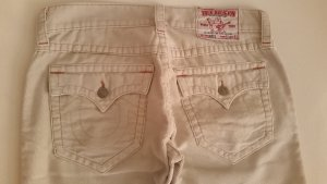 True Religion Denim Flares sand brown cotton