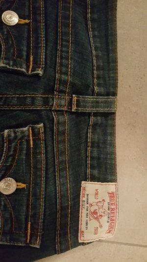 True Religion Pantalon taille basse bleu foncé