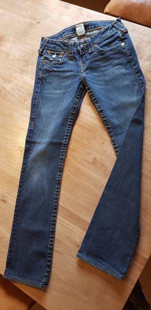 True Religion Jeans taille basse bleu