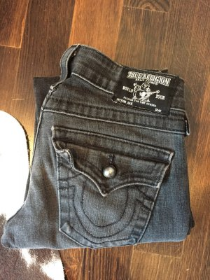 True religion jeans in dunkelgrau und zip fly pockets