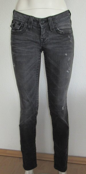 "TRUE RELIGION Jeans ""JULIE"" Gr. 26 grau Logo"