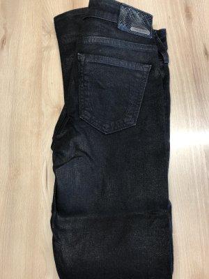 True Religion Jeans schwarz Lederoptik W26