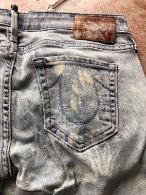 True Religion Jeans Skinny Slim Röhre Muster hellblau Gr.26