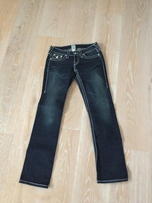 TRUE RELIGION JEANS STRASS Knöpfe SUPEREDEL Gr. 26