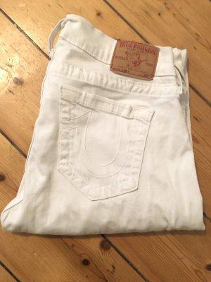 True Religion Jeans W30 weiss skinny