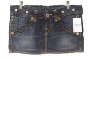True Religion Jeansrock dunkelblau-dunkelorange Casual-Look