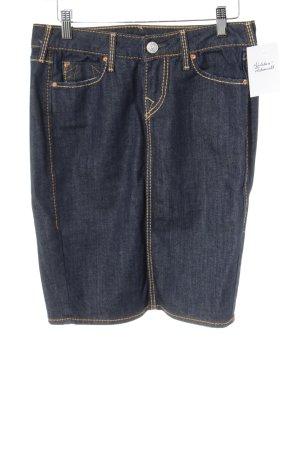 True Religion Denim Skirt dark blue street-fashion look