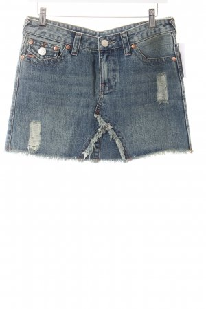 "True Religion Jeansrock ""Joey"" blau"