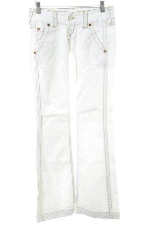 True Religion Jeans flare blanc style décontracté