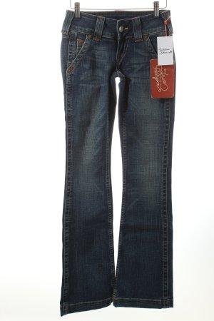 True Religion Jeansschlaghose blau 70ies-Stil