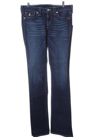 True Religion Jeansschlaghose dunkelblau Casual-Look