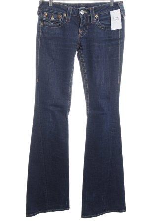 True Religion Jeansschlaghose dunkelblau Jeans-Optik