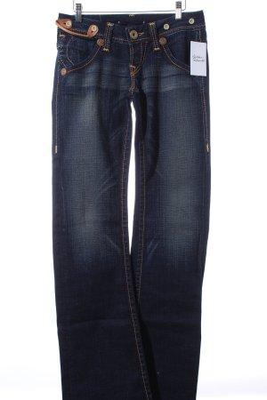 True Religion Jeansschlaghose dunkelblau-wollweiß Casual-Look