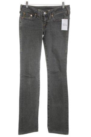 True Religion Jeansschlaghose dunkelgrau sportlicher Stil