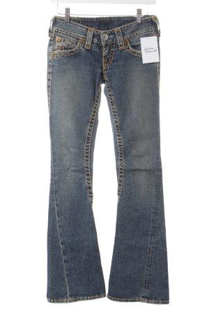 True Religion Jeansschlaghose graublau Gypsy-Look
