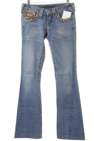 True Religion Jeansschlaghose hellblau Gypsy-Look