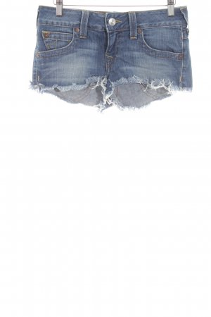True Religion Jeansshorts neonblau Casual-Look