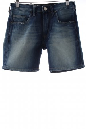 True Religion Jeansshorts stahlblau Casual-Look