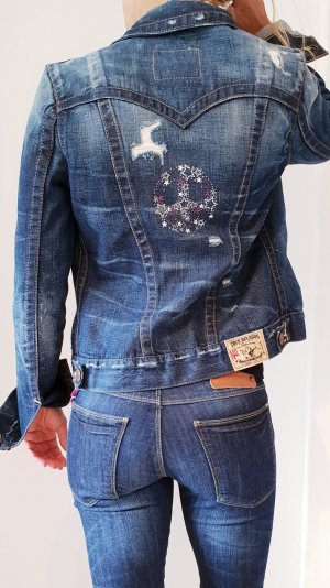 True Religion 'jimmy first edition' Jeansjacke Denim Jacket sommer ibiza boho hippie coachella Festival