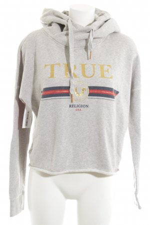 True Religion Kapuzensweatshirt hellgrau Casual-Look