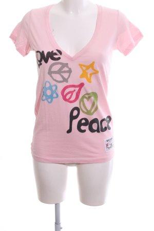 True Religion Print-Shirt pink Motivdruck Casual-Look