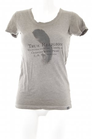 True Religion Print-Shirt graubraun Casual-Look