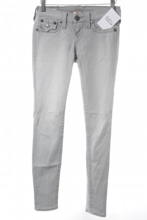 True Religion Röhrenjeans hellgrau-weiß Jeans-Optik