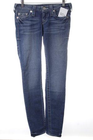 True Religion Röhrenjeans kornblumenblau-weiß Jeans-Optik