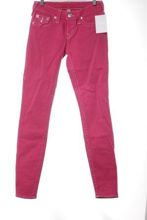 True Religion Röhrenjeans pink extravaganter Stil