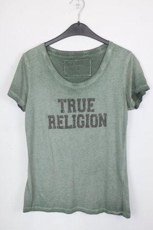 True Religion Shirt Gr. M grün mit Strass Steinchen (18/5/134)