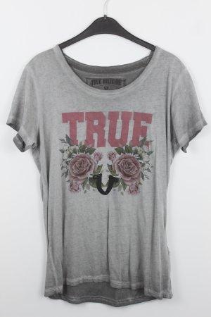 True Religion Shirt Gr. XL grau mit Aufdruck (18/7/028)