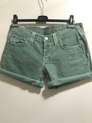 True Religion Pantalón corto verde bosque-verde oscuro