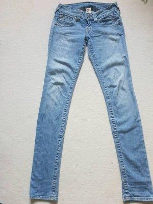 True Religion Jeans skinny blu fiordaliso Cotone