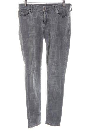 True Religion Jeans skinny grigio chiaro stampa integrale stile casual