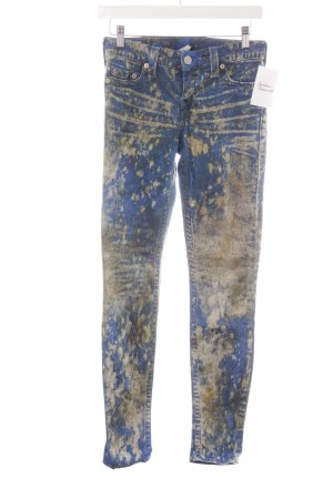True Religion Skinny Jeans abstraktes Muster Casual-Look