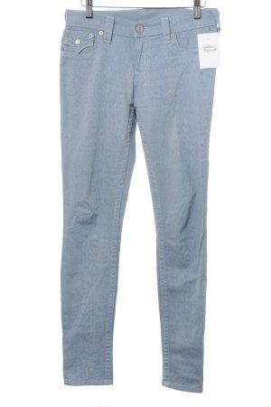 True Religion Skinny Jeans blassblau abstraktes Muster Casual-Look