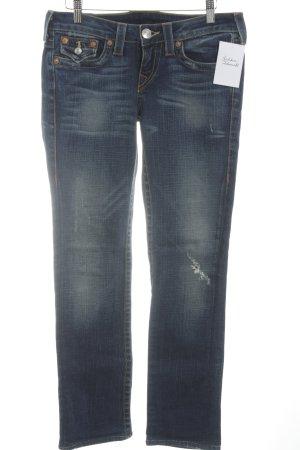 True Religion Skinny Jeans blau meliert Casual-Look