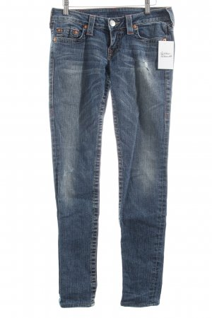 True Religion Skinny Jeans blau-wollweiß Casual-Look