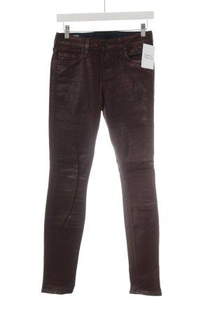 True Religion Skinny Jeans bordeauxrot Casual-Look