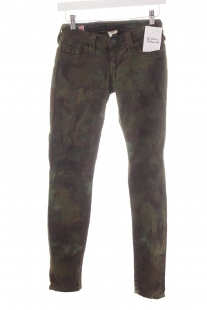 True Religion Skinny Jeans Camouflagemuster Casual-Look