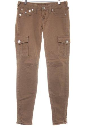 "True Religion Skinny Jeans ""Cargo Pants"" hellbraun"