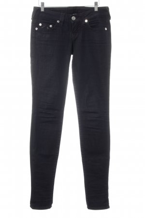 True Religion Skinny Jeans dunkelblau Logo-Applikation
