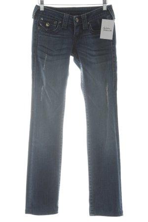 True Religion Jeans skinny blu scuro-bianco stile jeans
