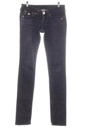 True Religion Skinny Jeans dunkelgrau Casual-Look